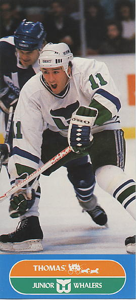 1986-87 Whalers Junior Thomas' #5