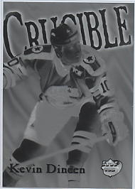 1995-96 Collector's Edge Ice Crucible Front Negative